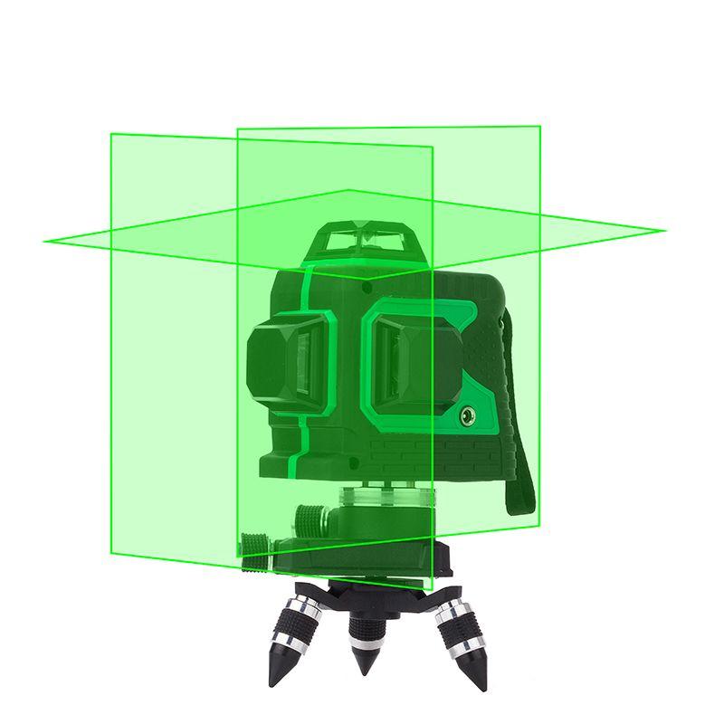 12 lignes 360 ° 3D Green Laser Level Self Leveling Tool horizontale et verticale Cross