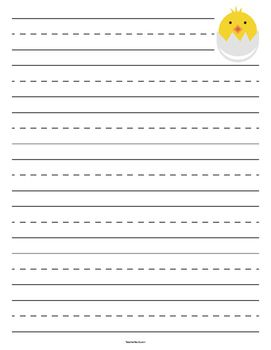 Chick Hatching Primary Lined Paper  Teacher