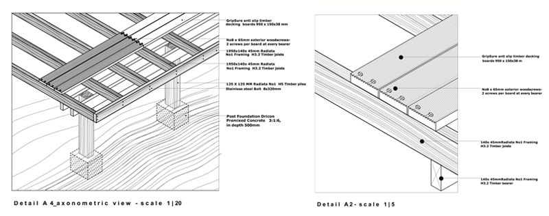 Very small bathroom plans - Construction Detail Of Timber Deck Details Pinterest
