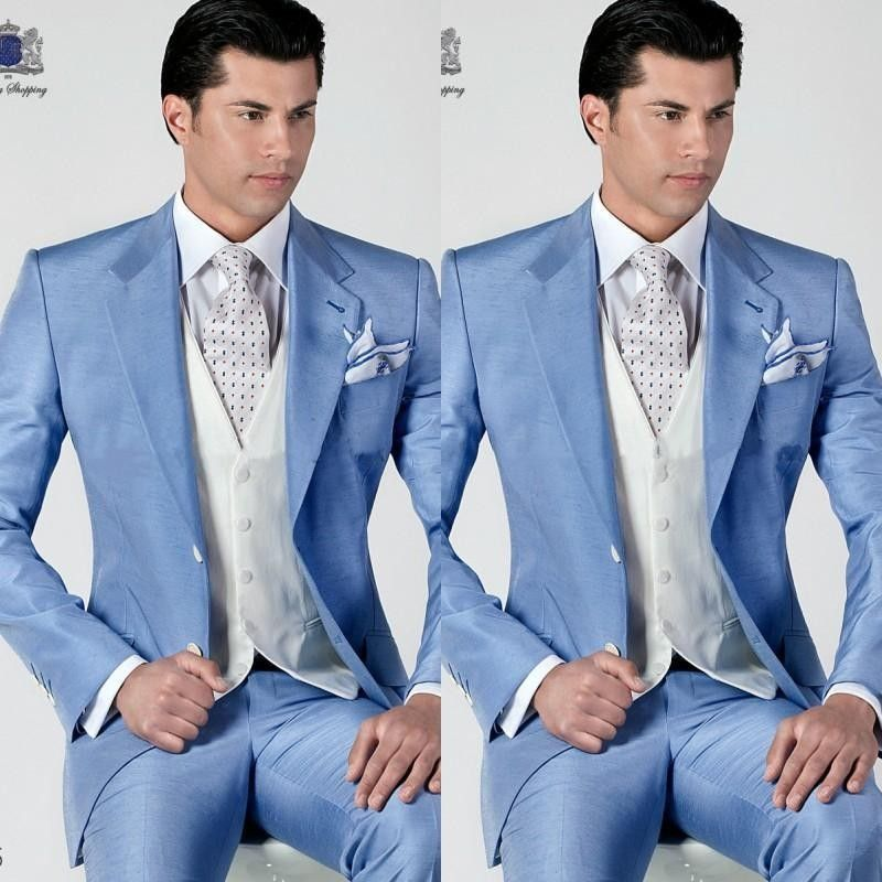 Click to Buy << New Fashion Mens Dinner Party Prom Suits Groom ...