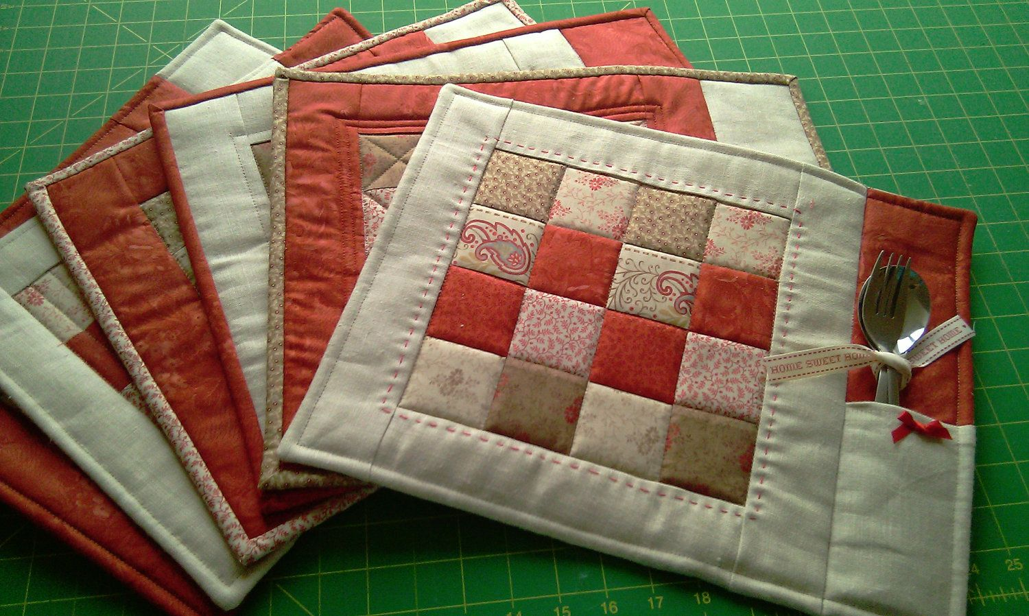 quilted placemat pattern measurements | Like this item? | Crafts ... : quilted placemat pattern - Adamdwight.com