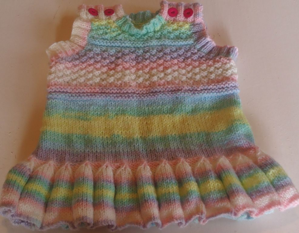 Baby Pinafore Pattern A Free Knitting Pattern For A Babies Dress