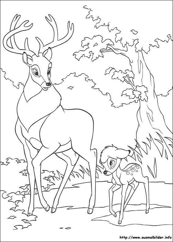 Bambi 2 malvorlagen | Ausmalbilder/coloring pages | Pinterest