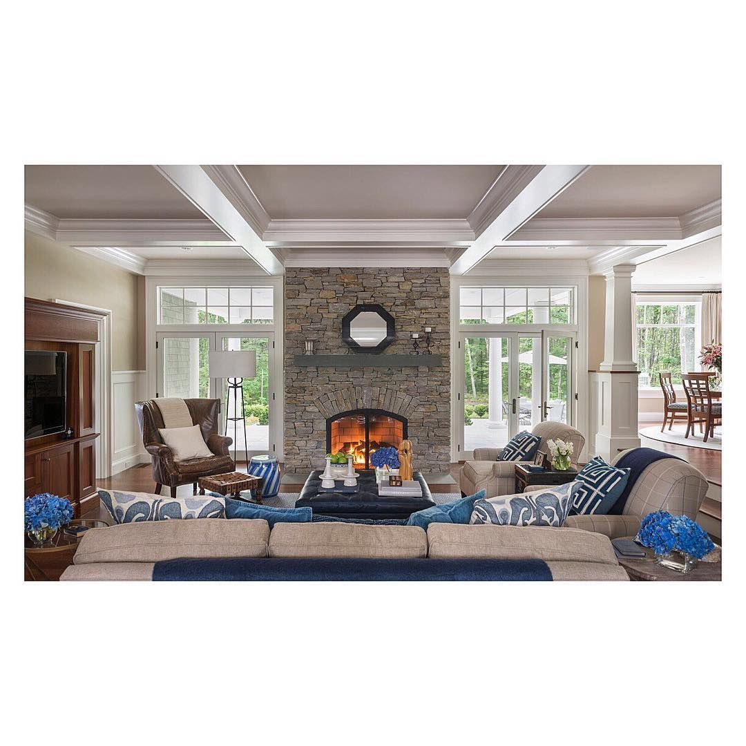 sunday fireside chic with custom bluestone fireplace beams