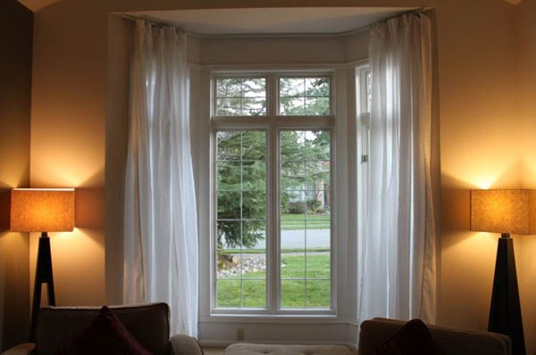 17 Simple But Adorable Bay Window Curtains Designs Flexible