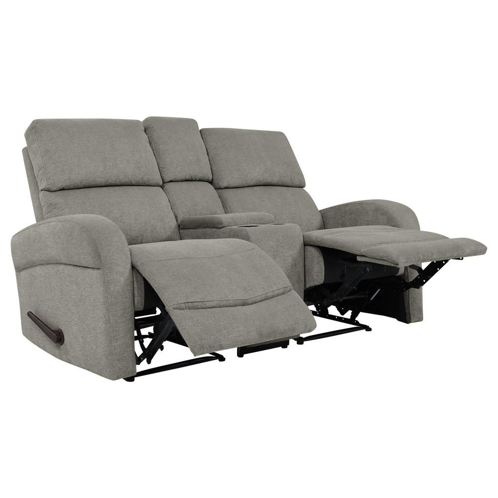 Astounding Prolounger Warm Gray Chenille 2 Seat Recliner Loveseat With Uwap Interior Chair Design Uwaporg