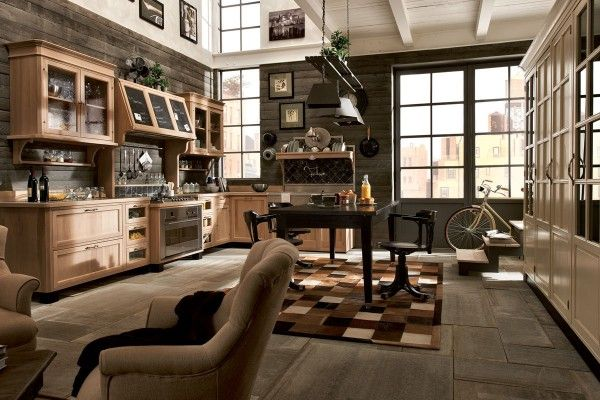 Vintage chic kitchens from Marchi Cucine | Industrial style ...