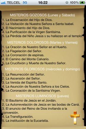 Iphone Ipad Santo Rosario Católico Misterios Del Rosario Rezar El Rosario Rosarios Catolico Santo Rosario