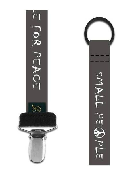 Small People for Peace Pacifier Clip
