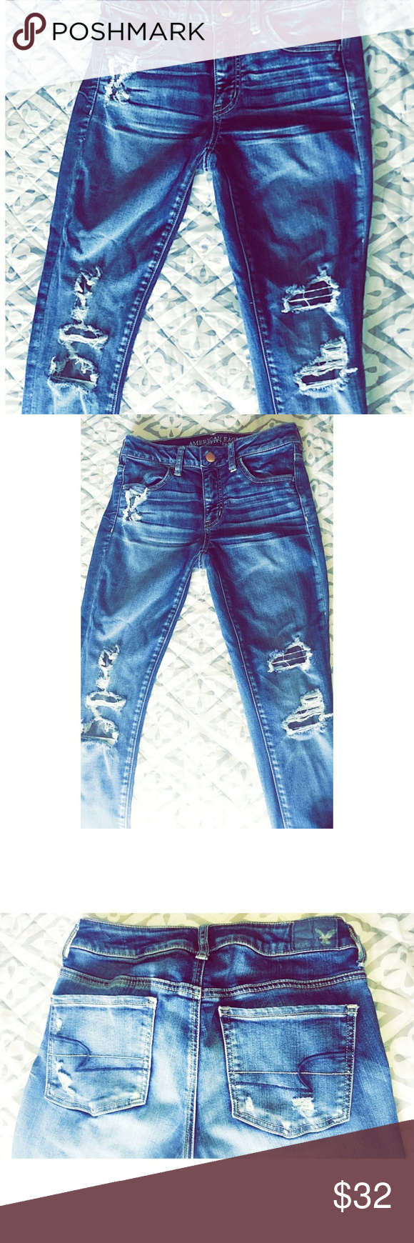 AE Jeggings American Eagle Jeggings | Super Skinny / Super Stretchy | Size 4 American Eagle Outfitters Jeans Skinny