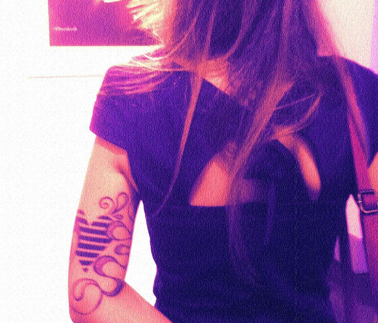striped heart tattoo <3