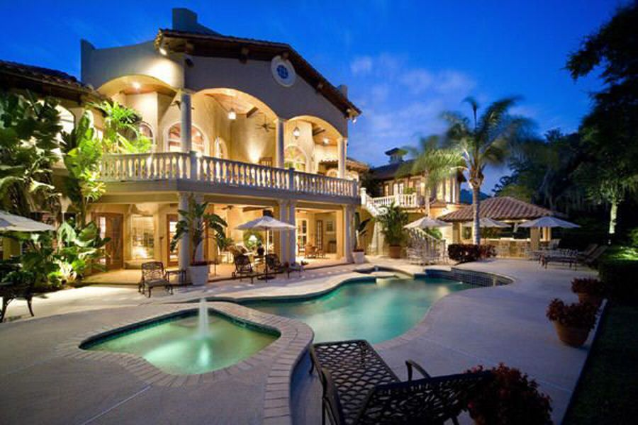 dream house - view from the back yard