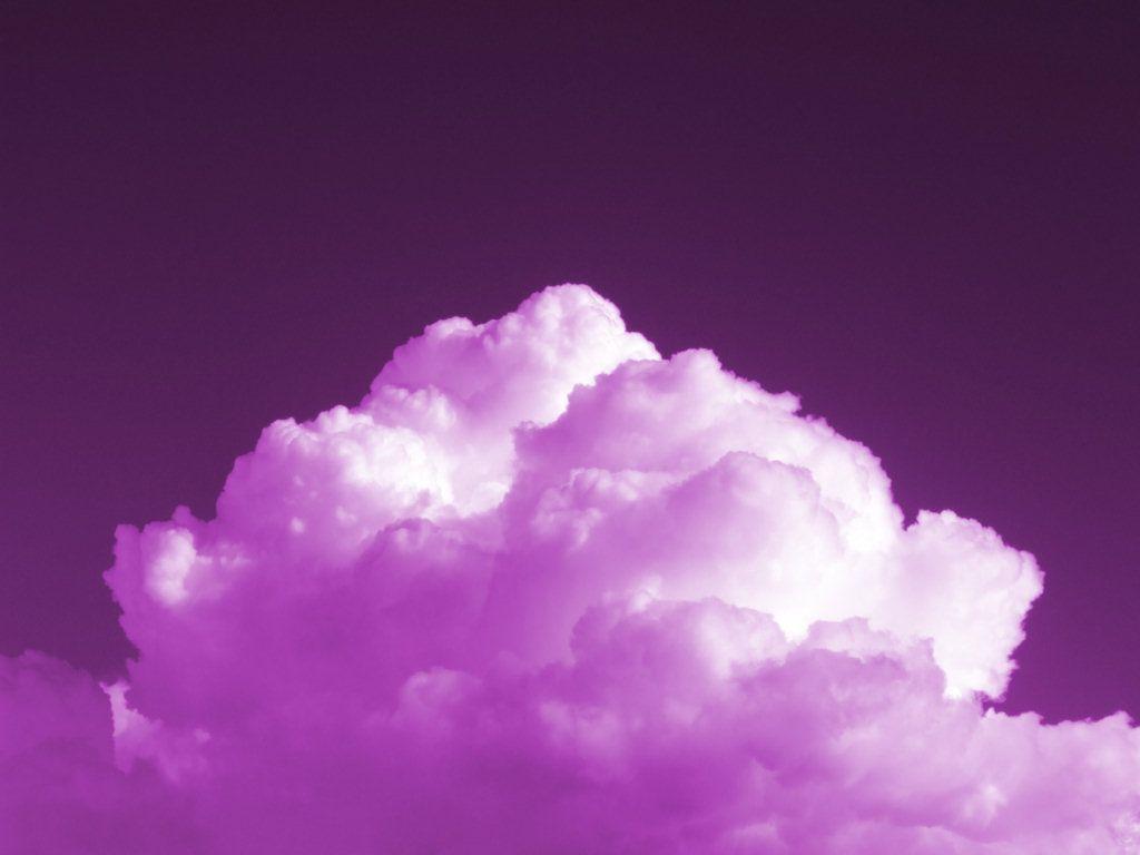 Cloud In Purple Sky