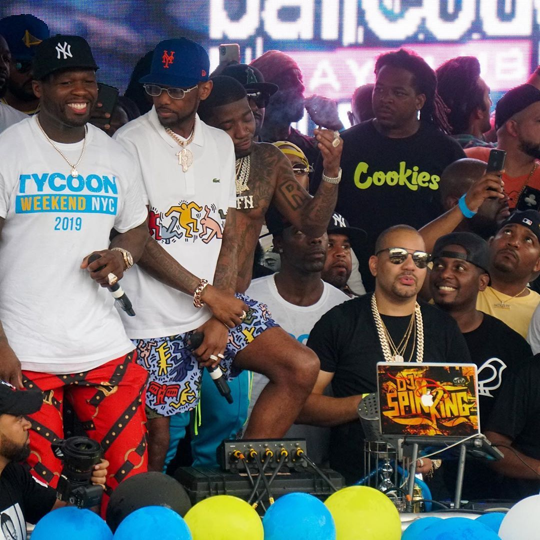 Tycoon Pool Party 50cent Barcode Tycoonweekendnyc August 26 2019 Weekend In Nyc American Rappers Pool Party