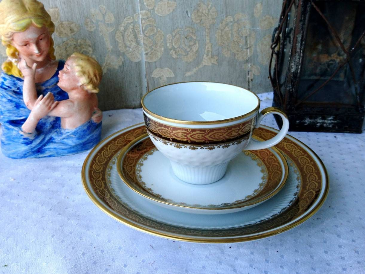Shabby Chic Geschirr Kahla Porcelain Collection Deck Cup Saucer Cake Plate Shabby