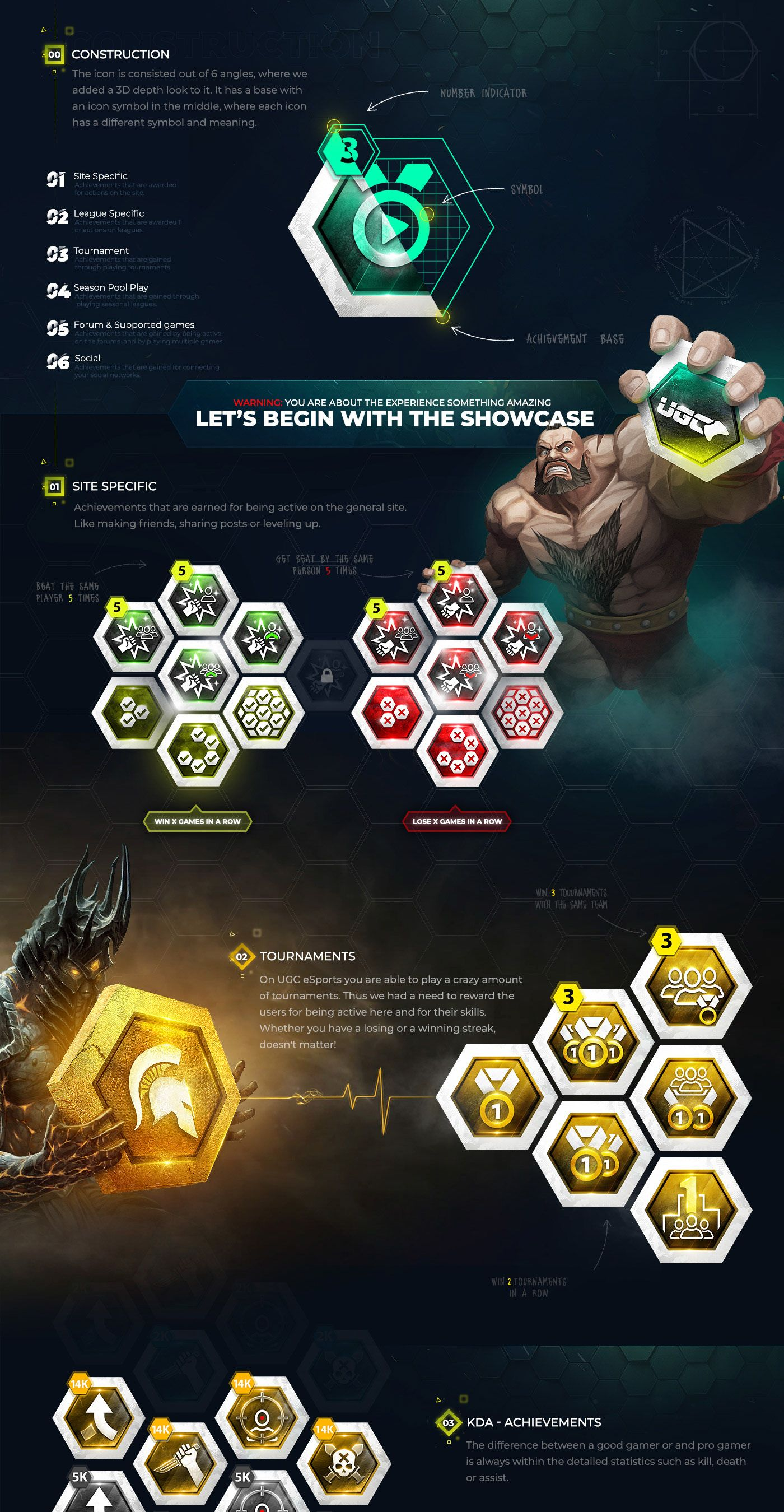 UGC eSports Gaming Achievements on Behance | Web design