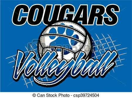 Vector Cougars Volleyball Stock Illustration Royalty Free Illustrations Volleyball Shirt Designs Volleyball Designs Volleyball Team
