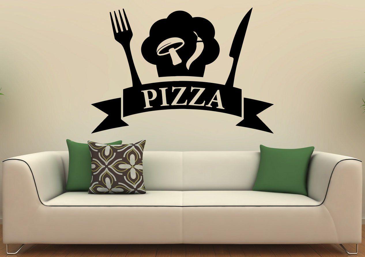 Pizzeria Wall Decal Wall Vinyl Sticker Pizza Restaurant Interior ...