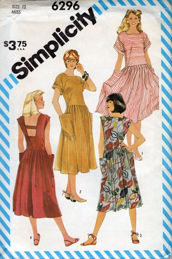 Simplicity 40 40s Misses Pullover Dress Pattern Womens Vintage Fascinating Sundress Patterns Simplicity