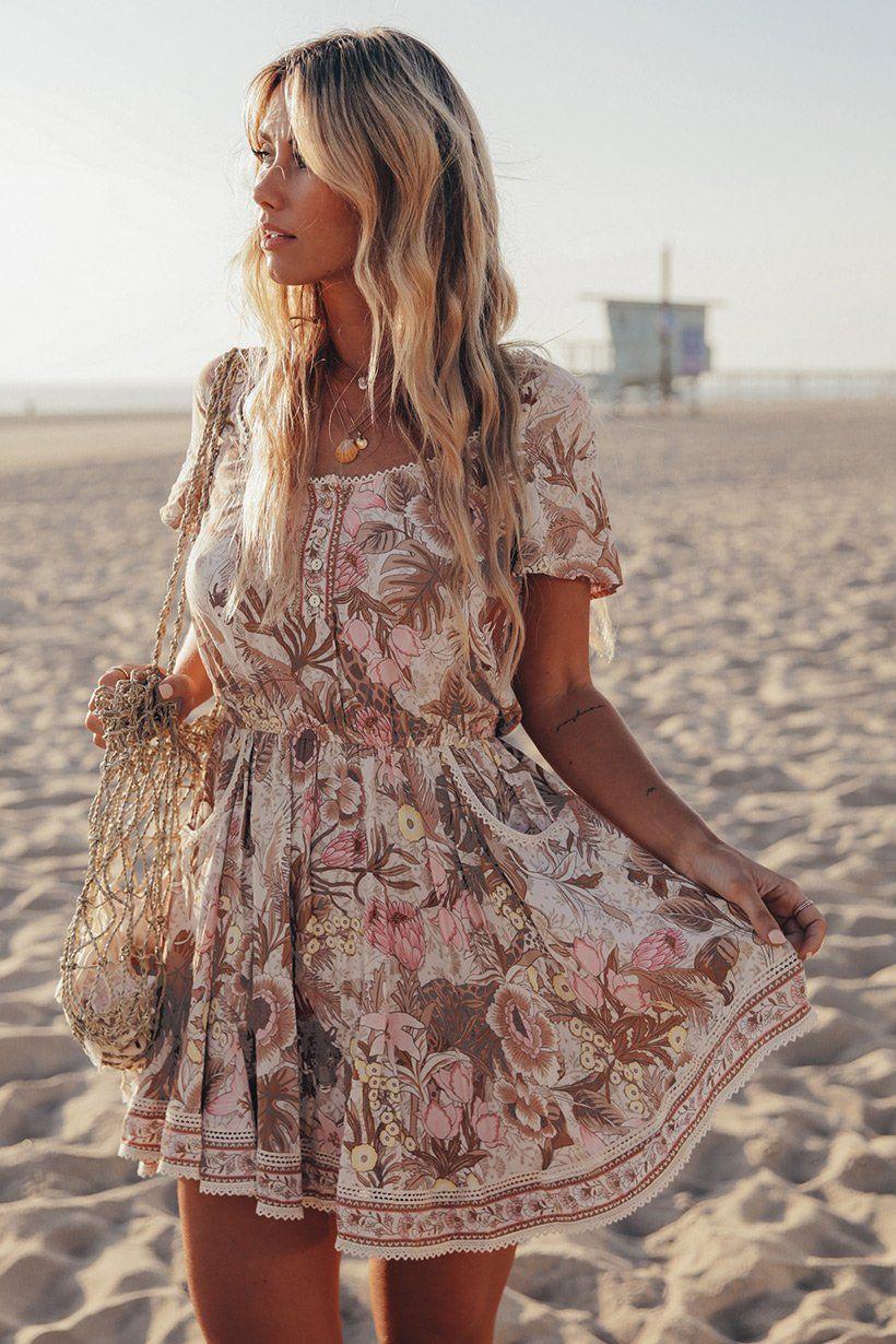 5b6d5e30d4778 Jungle Mini Dress in 2019 | summer clothes | Dresses, Short beach ...