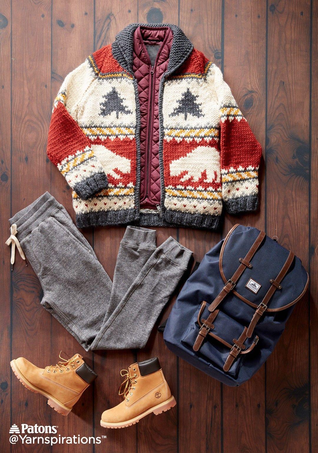 True North Knit Jacket| Knit | Free Pattern | Yarnspirations |Canada ...