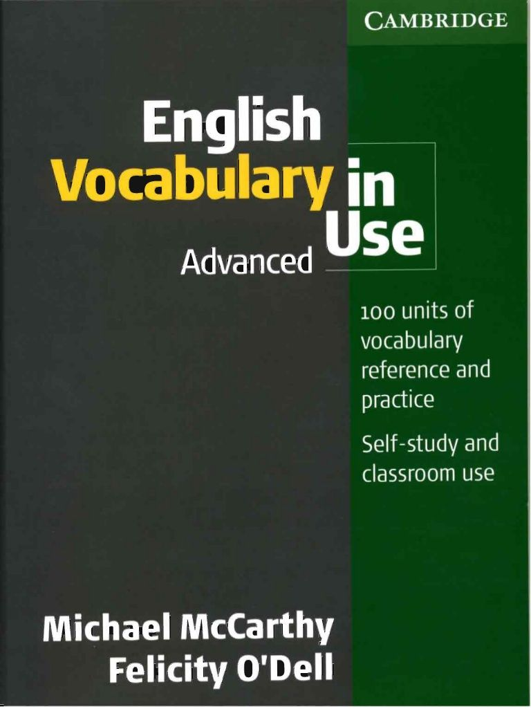 Free Download Cambridge English Vocabulary In Use With Answers Advanced English Vocabulary Cambridge English English Learning Books