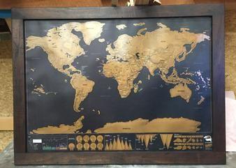 Fir Coffee Tables Wood Dart Board Surround Growth Ruler Wood - Scratch map frame