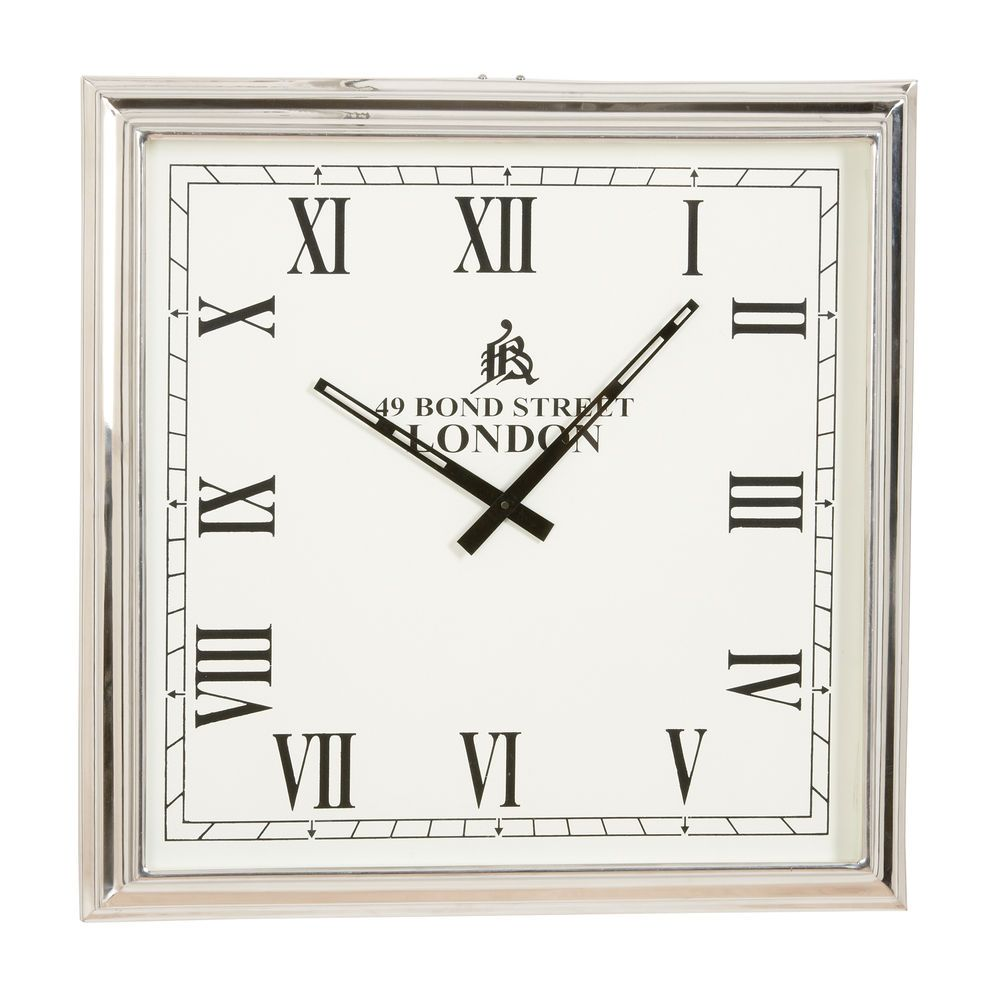 silver home decor nickel square wall clock ethan allen us nickel square wall clock ethan allen us