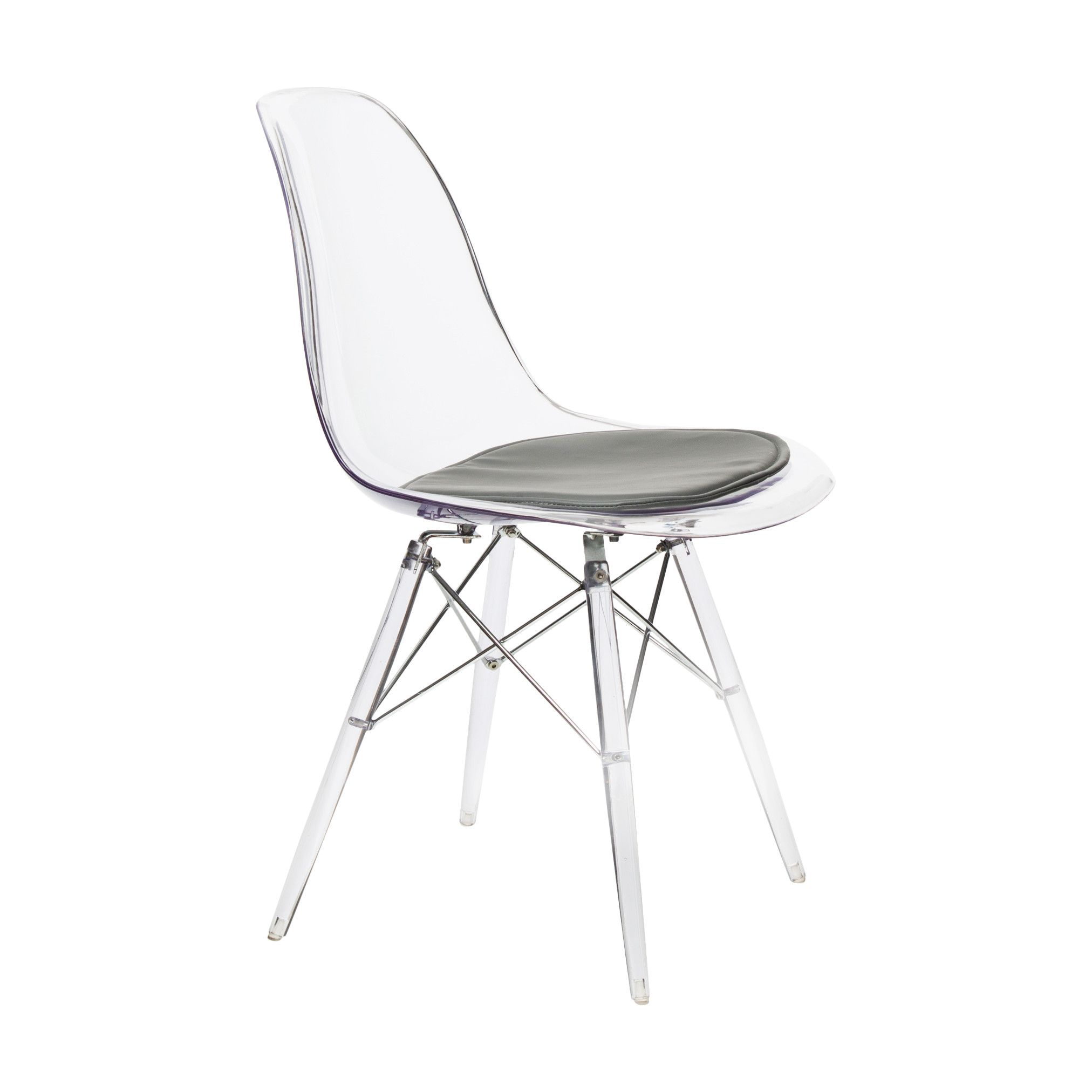 American Atelier Living Banks Clear Side Chair Chaise Moderne