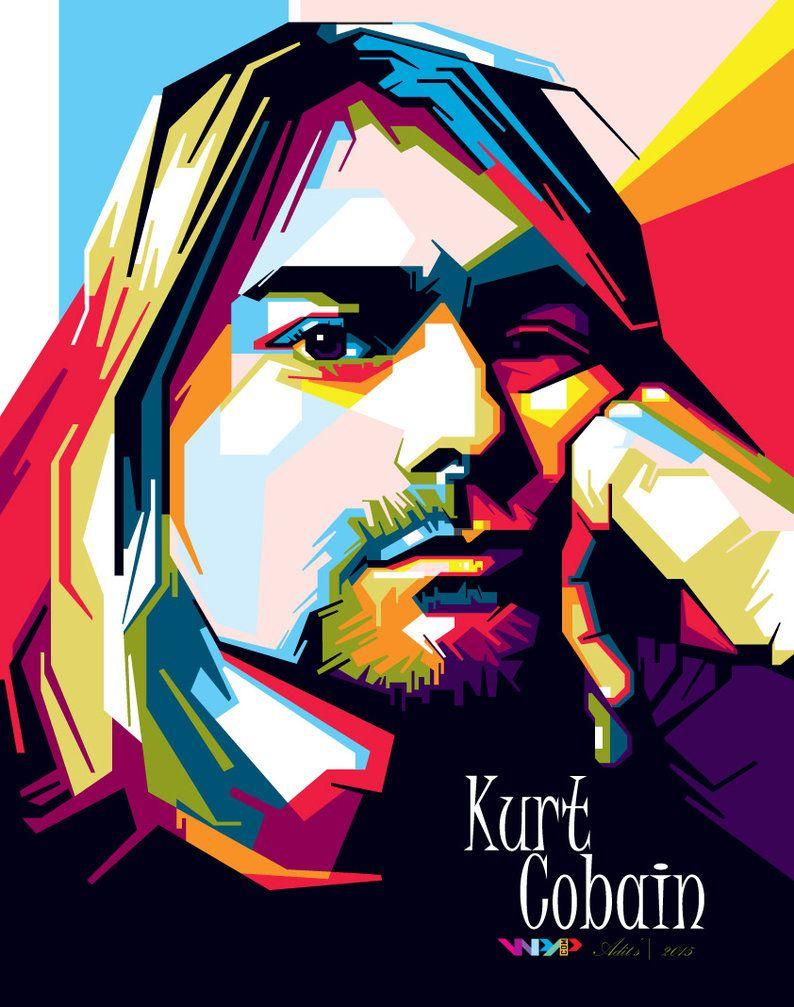 Kurt Cobain WPAP by adityasp on DeviantArt