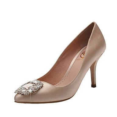 Women's+Wedding+Shoes+Heels/Pointed+Toe/Closed+Toe+Heels+Wedding/Party+&+Evening/Dress+Red/Champagne+–+GBP+£+38.49