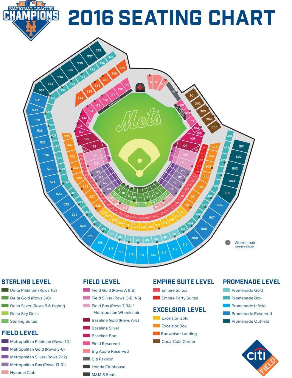 citi field seating map mets ny mets pinterest citi