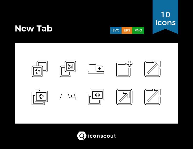 Download Download New Tab Icon pack - Available in SVG, PNG, EPS ...