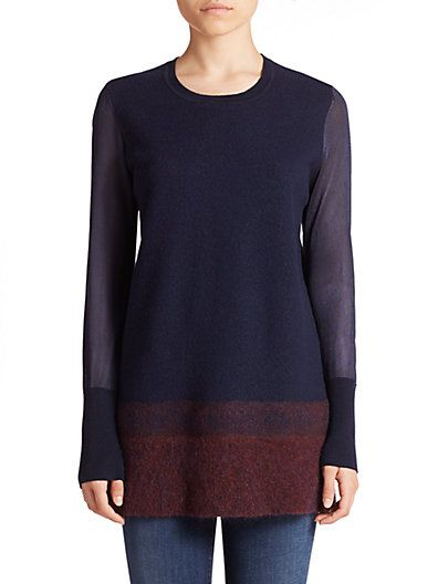 VINCE Needle-Punch Ombré Sweater. #vince #cloth #sweater