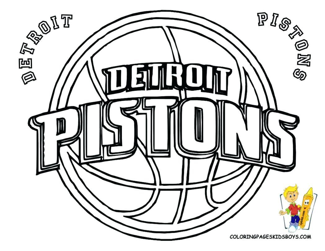 Nba Basketball Logo Coloring Pages Printable