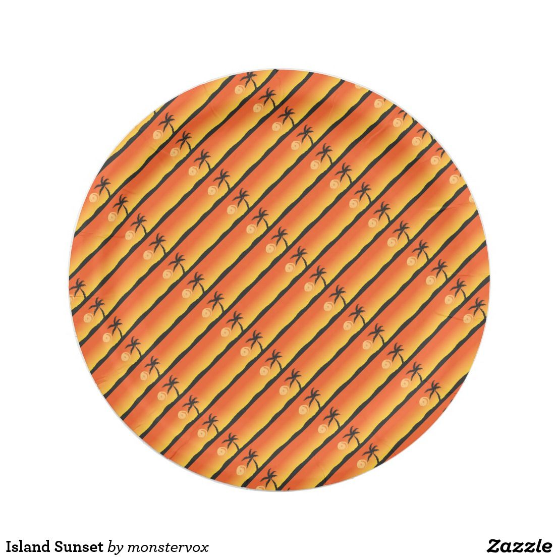 Island Sunset Paper Plate #Sunset #Island #PalmTree #Ocean #Beach #Party  sc 1 st  Pinterest & Island Sunset Paper Plate #Sunset #Island #PalmTree #Ocean #Beach ...