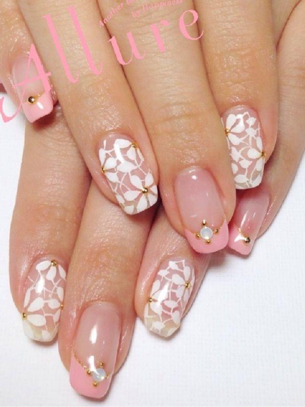 65 Lovely Pink Nail Art Ideas: ネイル, ネイルデザイン
