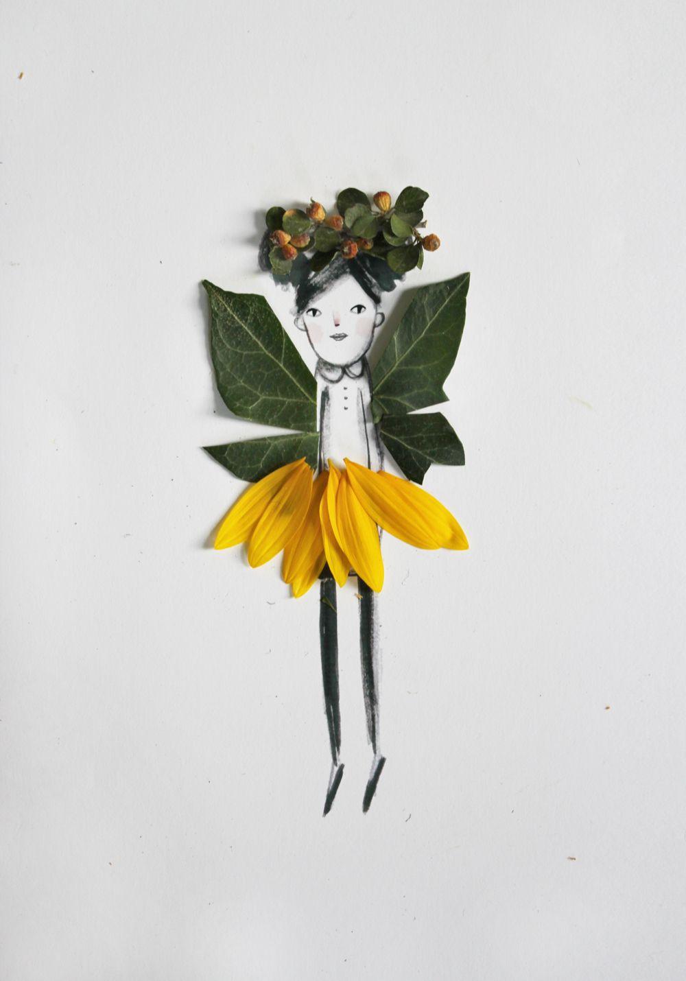 Decorar dibujos con naturaleza  Kireei cosas bellas  Ideas