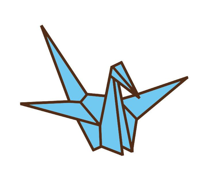 Paper Crane Illustration Japanese Patterns Pinterest Paper