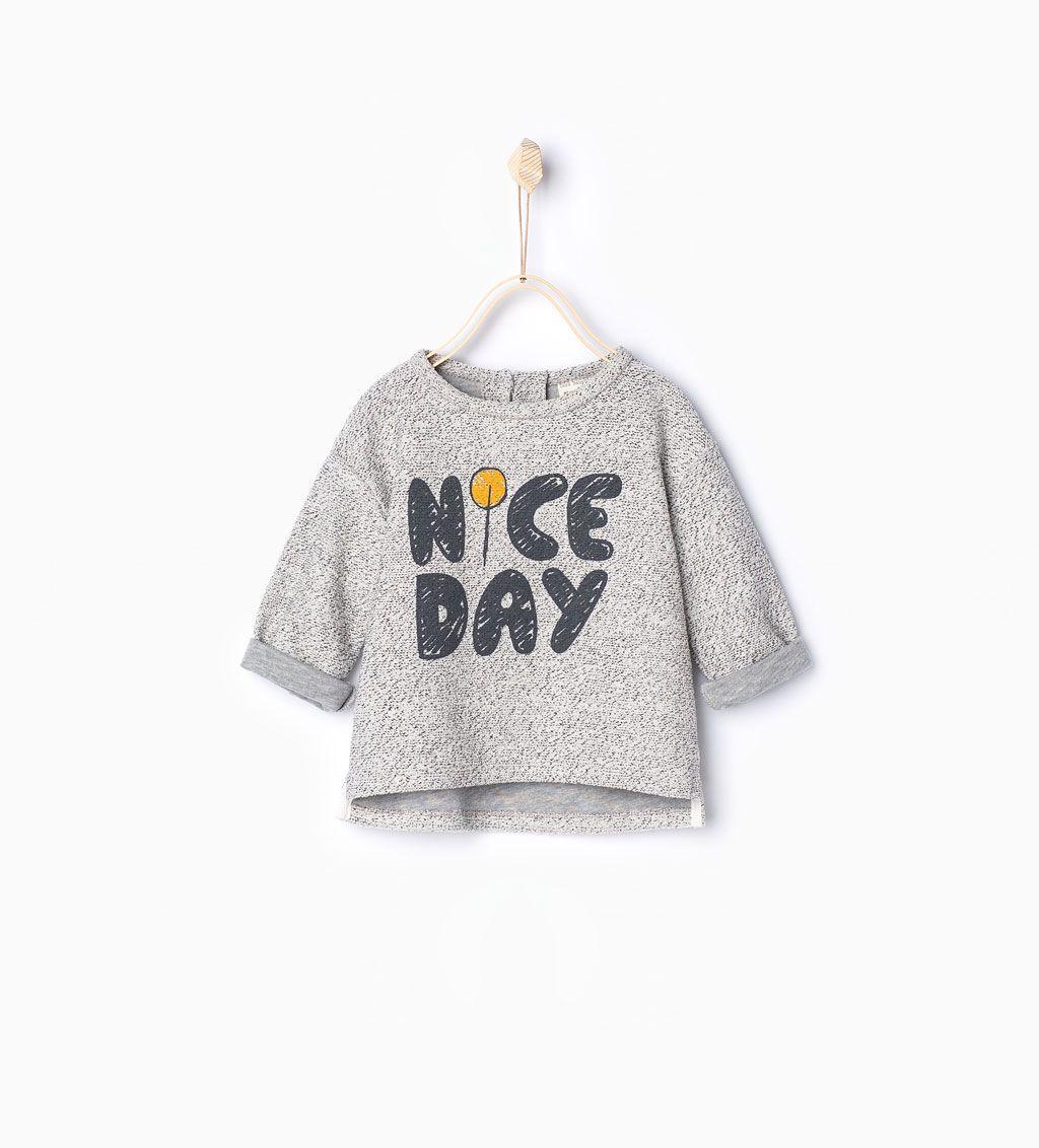 Slogan sweatshirt-Sweatshirts-Baby girl | 3 months - 3 ...