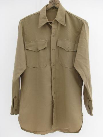 Vintage Military Long Sleeve Undershirt Wool WWII XontbgZ