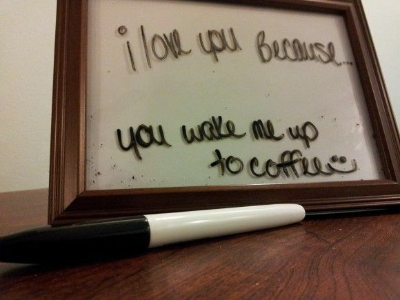 "Creative ways to tell your husband ""I love you"" daily."