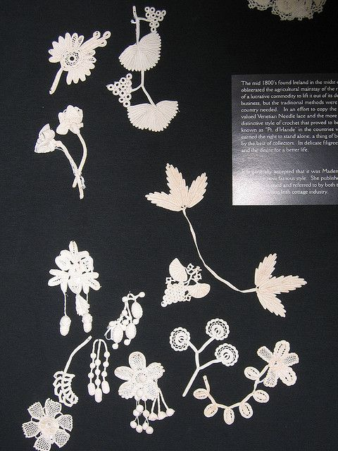 Photo taken at the Irish crochet lace exhibit held at the Lacis Museum in Berkeley, California in 2005.