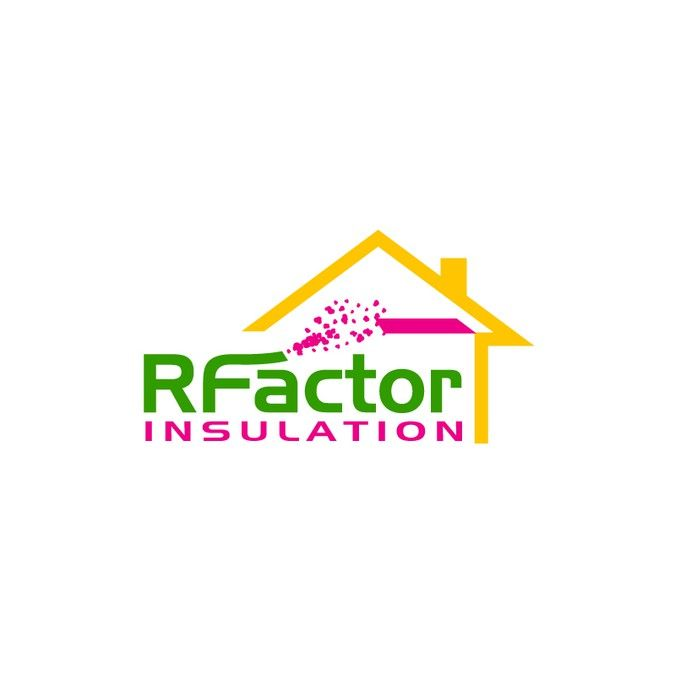 Create a vibrant R Factor Insulation logo money and energy