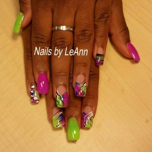 Freestyle nail art - Freestyle Nail Art Nails By LeAnn Pinterest Fancy Nails
