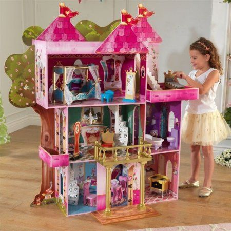 Storybook Mansion Dollhouse with 14-Piece Furniture /& Accessory Set by KidKraft