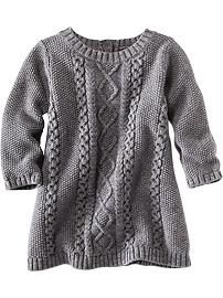 b48b49908a Cable-Knit Sweater Dress for Baby