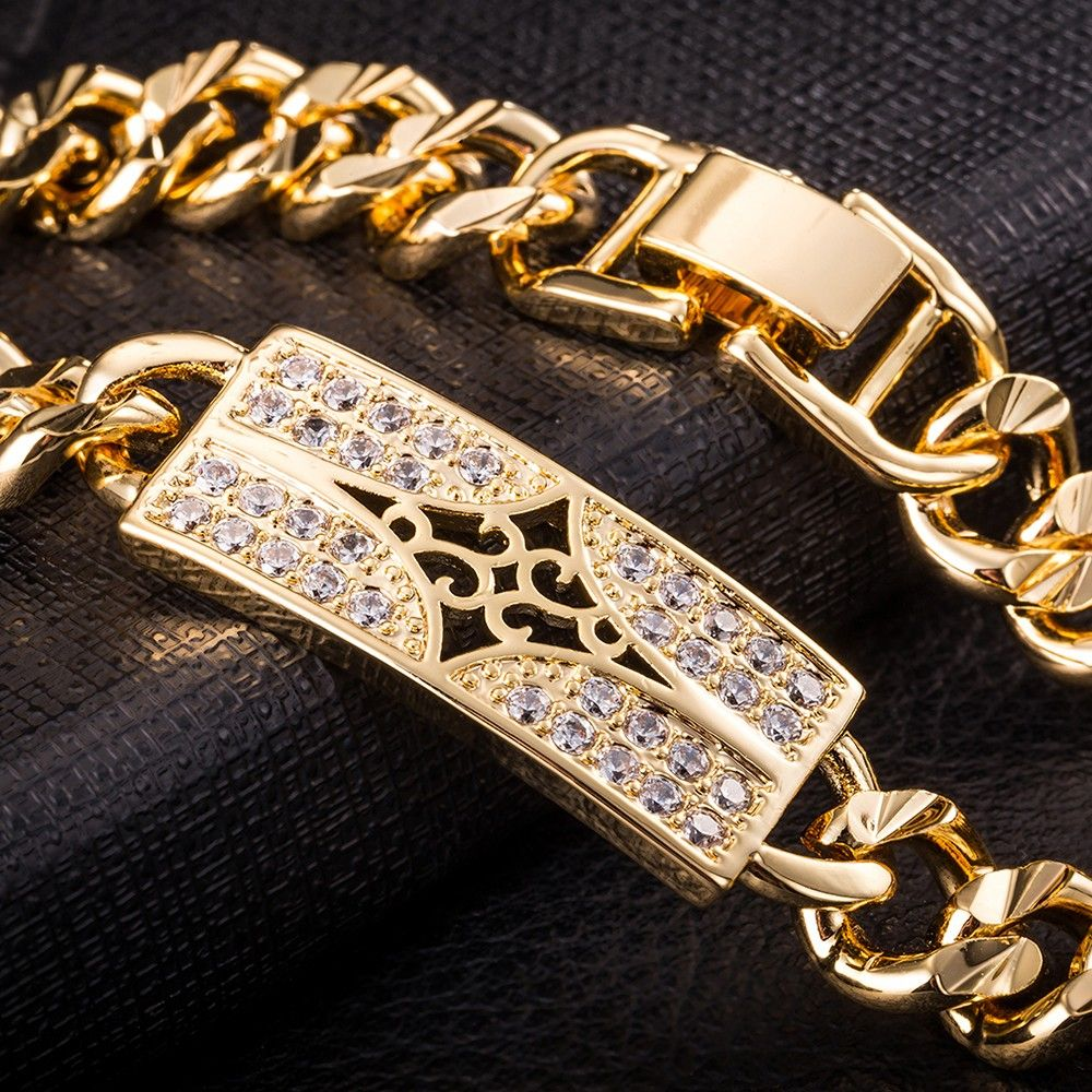 Top quality men jewelry bracelet goldcolor vintage classical style