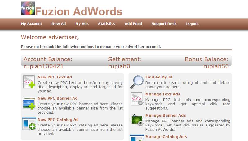 Download Adwords, Adsense, Buysellads clone scripts here