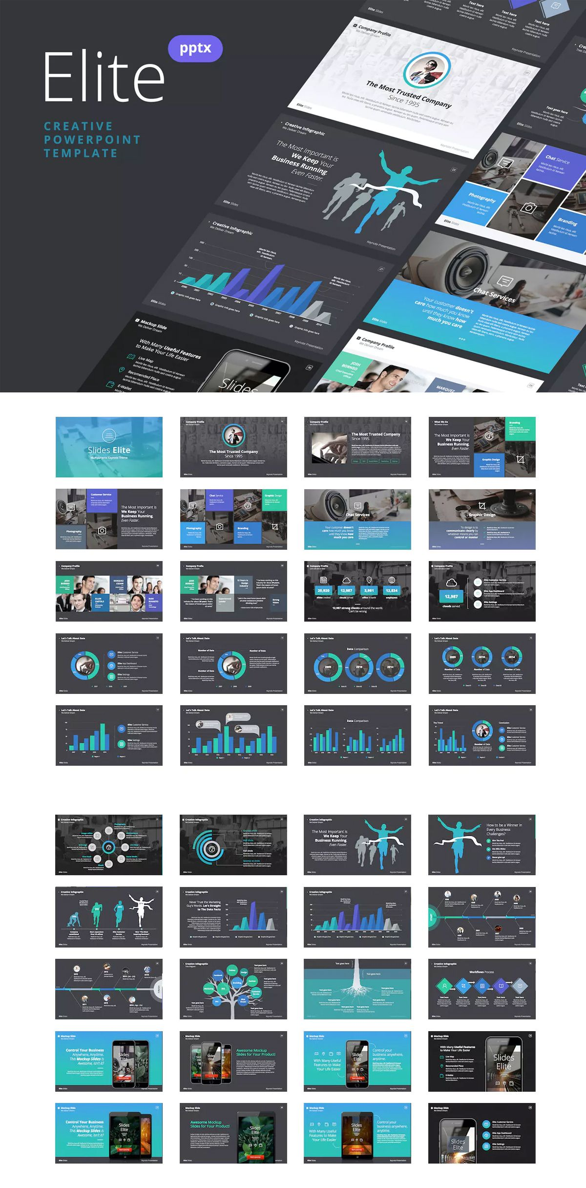 Slides Elite  Powerpoint Presentation Template  Powerpoint